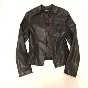 Blank NYC Faux Leather Blazer Jacket Small